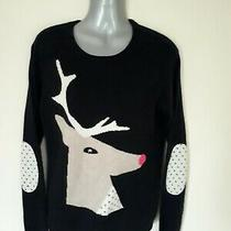 'Chinti and Parker' 100% Cashmere Reindeer/stag Elbow Patches Jumper-350 New Photo