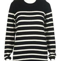 Chinti and Parker 100% Cashmere Sweater Striped Blue White Preppy Soft Pullover Photo