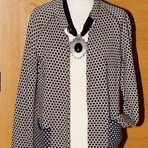 Chinti and Parker Conscious Cloth Navy/fawn Knitted Cardigan/soft Jacket Medium  Photo