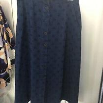 Chinti & Parker Denim Star Print Skirt Size Uk8 Photo