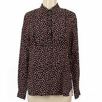 Chinti & Parker Women Red Long Sleeve Silk Top 6 Photo
