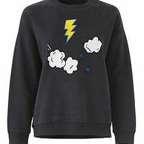 Chinti & Parker Women's Sweatshirt Blue Size Small S Element Patched 295- 004 Photo