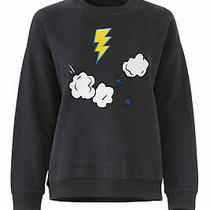 Chinti & Parker Women's Sweatshirt Blue Size Small S Lighting Bolt 295- 698 Photo