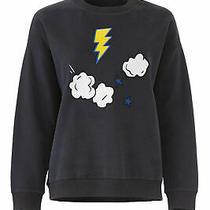 Chinti & Parker Women's Sweatshirt Blue Size Small S Lightning Cloud 295- 388 Photo