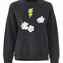 Chinti & Parker Womens Sweatshirt Black Size Medium M Element Patched 295- 670 Photo