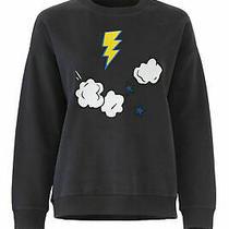 Chinti & Parker Womens Sweatshirt Blue Small S Lighting Bolt Crewneck 295- 002 Photo