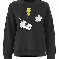 Chinti & Parker Womens Sweatshirt Blue Xs Lighting Bolt Crewneck 295- 797 Photo
