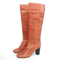 Chloe 1395 Elah Tuscan Leather Patchwork Chloe  Knee-High Boots 10/40 New Photo