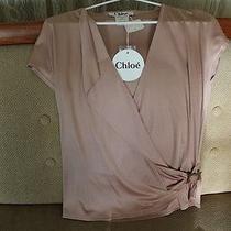 Chloe 100% Silk Top Shirt Blouse Eur 40 Blush Nwt Gorgeous Photo
