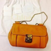 Chloe Authentic Small Leather Shoulder Bag Top Handle Orange Photo