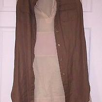 Chloe Beige and Brown Linen Cotton Summer Dress Size 2-4 Photo