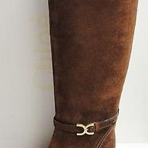 Chloe Besami 1k Suede Knee High Tall Rubber Wedge Boots Shoes 36 Photo
