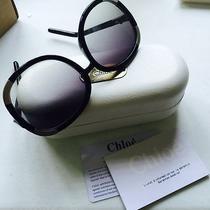 Chloe Black and Silver Sunglasses Photo