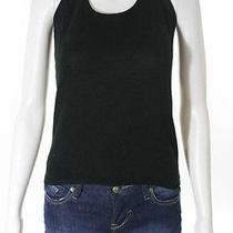 Chloe Black Cotton Blend Scoop Neck Knit Halter Top Sz S Photo