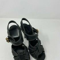 Chloe Black Leather High Heel Sandals Sz 38 Photo