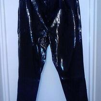 Chloe Black Vinyl Skinny Jeans Size 24 Brand New Simply Be Bnwt Photo