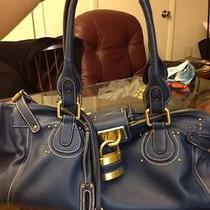 Chloe Blue Handbag With Padlock Photo