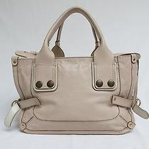 Chloe Boston Handbag Beige  Photo