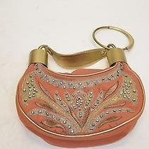 Chloe Bracelet Bag Cinnamon Embroidered Beaded Photo