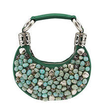 Chloe Bracelet Bag Green Beaded Pochette Photo