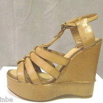 Chloe Braided Res Wedges Shoes Sandals 36.5 5.5 Run Small Photo