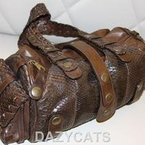 Chloe Brown Python Leather Authentic Handbag  Photo