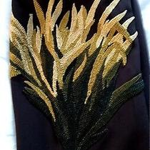 Chloe by Stella Wool Pants Brown Embrodered Seaweed New Size 40 Us 4 Phoebe Photo