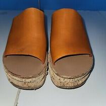 Chloe Camille Leather Platform Wedge Sandal Size 38 Photo
