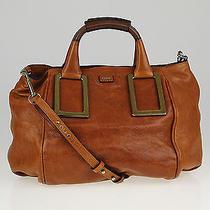 Chloe Cognac Leather Medium Ethel Satchel Bag Photo