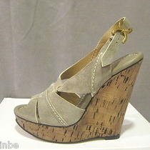 Chloe Cork Celeb Wedges Renna Shoe Sandal 40.5 10.5 Photo