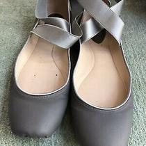 Chloe Crisscross Grey Ballet Flats Size 40 Good Condition Photo