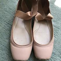 Chloe Crisscross Pink Beige Ballet Flats Size 40.5 Good Condition Photo