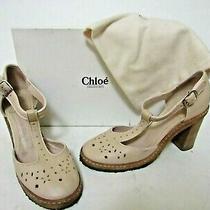 Chloe Cuba Leather Heels Size Eu 35 Us 5 - 5.5  Photo