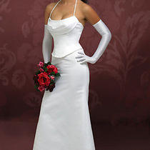 Chloe Fitted Beach Sexy Wedding Dress Gown Size 0-2-4 Ivory Brand New Clearance Photo