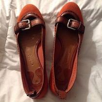 Chloe Flats Canvas and Leather Shoes Size 3 Made in Italy Retail 495 Photo