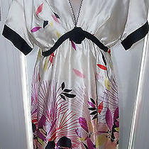 Chloe Floral Print Silk Dress Photo