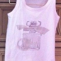 Chloe Girls Tank Top With Parfum Bottle Size 6 100% Cotton Photo
