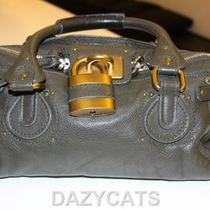 Chloe Gray Leather Authentic Handbag  Photo