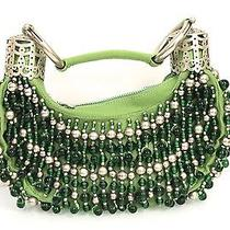 Chloe Green Bracelet Bag With Beaded With Quartz Crystals Photo