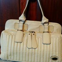 Chloe Handbag Purse Bay Bag Cream Photo