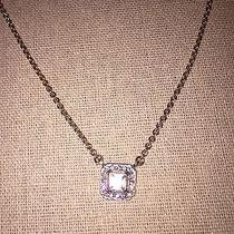 Chloe  Isabel Rose Gold Crystal Square Pendant Necklace Photo