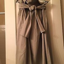 Chloe Khaki Full Skirt With Tie - Size 2  Photo