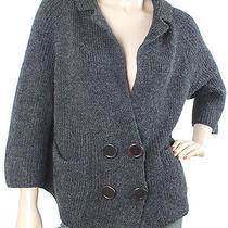 Chloe Knits - Gray Wool Oversized Knitted Cardigan Photo