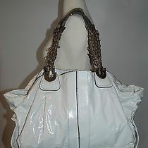 Chloe Large White Patent Vinyl Heloise Satchell Tote Handbag  Photo
