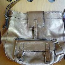 Chloe Leather Gold Antiqued Finish Handbag -  Edith Photo