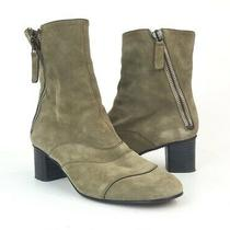 Chloe Lexie Mushroom Suede Ankle Bootie Boots Size 38 1/2 Photo