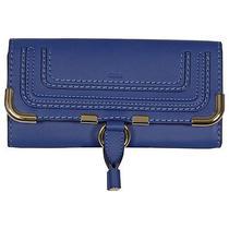 Chloe Marcie Continental Wallet in Sea Water - Blue Photo