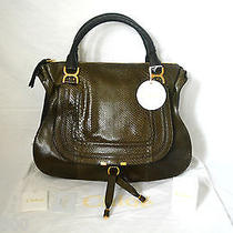 Chloe Marcie Large Python and Leather Tote Chloe Photo