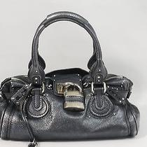 Chloe Metallic Anthracite Leather Paddington Photo
