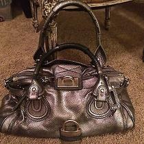 Chloe Metallic Grafite Paddington Handbag Photo